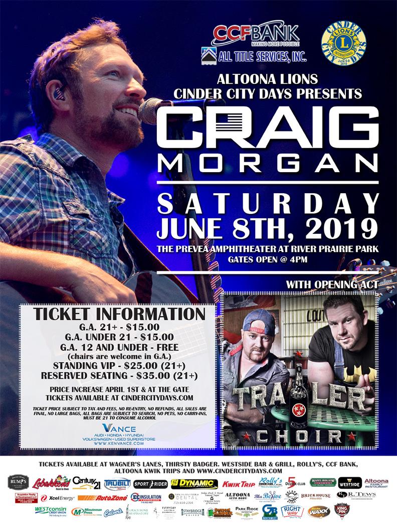 Craig Morgan at Cinder City Days